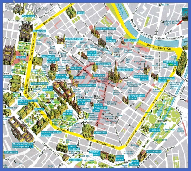 Vienna Map Tourist Attractions ToursMapsCom – Vienna Tourist Map Printable