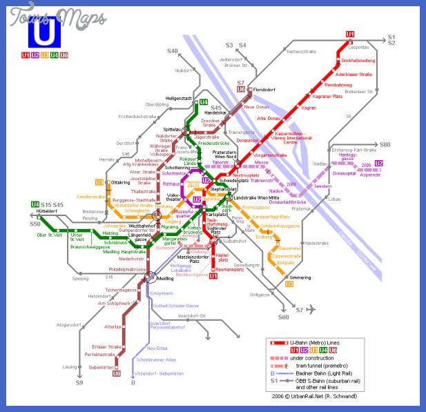 vienna map metro 1 Vienna Metro Map