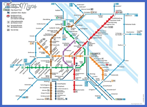 vienna metro map  1 Vienna Metro Map