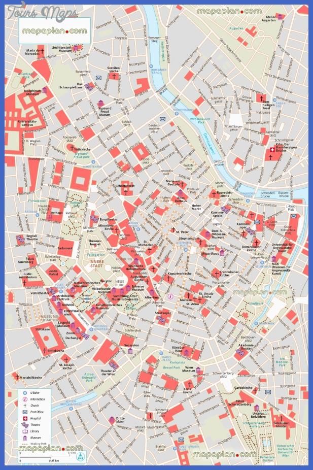 Vienna Map Tourist Attractions ToursMapsCom – Vienna Tourist Attractions Map