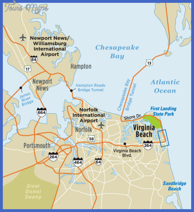 Virginia Beach Map Tourist Attractions ToursMapsCom – Virginia Tourist Attractions Map