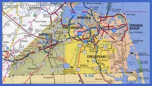 virginiabeacharea Virginia Beach Map Tourist Attractions