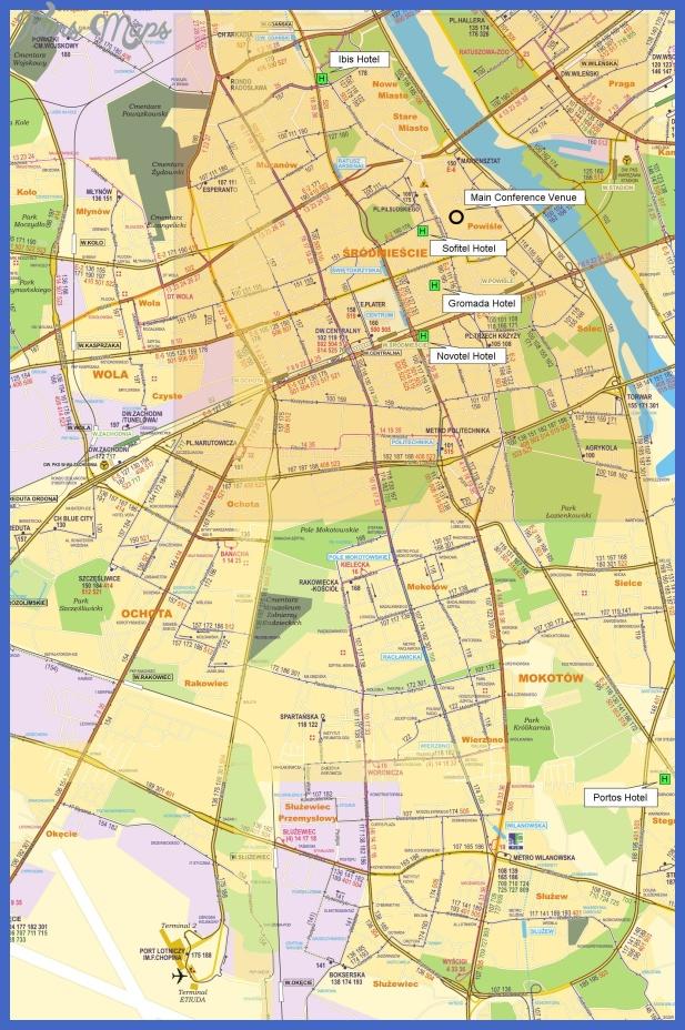 warsaw university map Warsaw Map