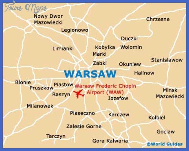 warsaw city map Warsaw Map