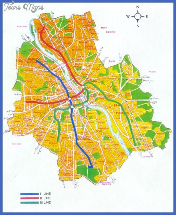 warsmap jpg Poland Subway Map
