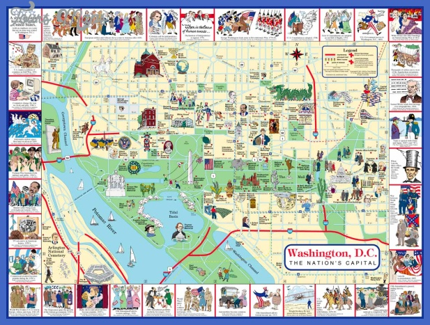 washington dc city map 2 Accra Map Tourist Attractions