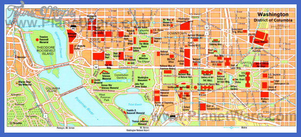 Washington Map Tourist Attractions ToursMapsCom – Map Of Tourist Attractions In Washington Dc
