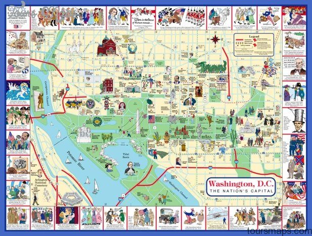 Washington Dc Map Of Attractions Washington Map Tourist Attractions   ToursMaps.®