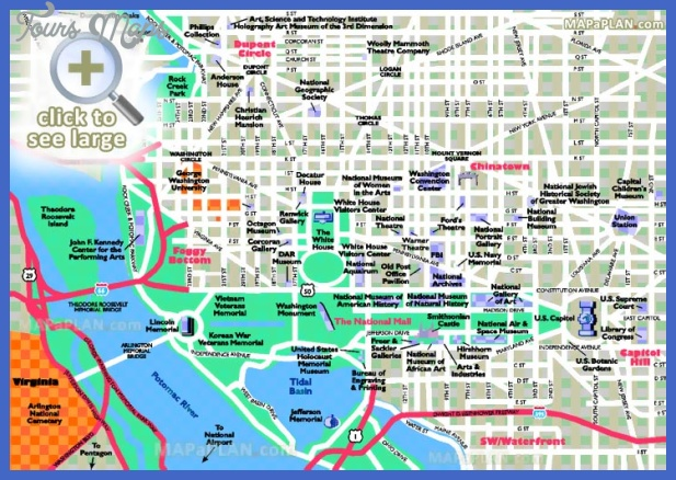 Washington Map Tourist Attractions ToursMapsCom – Tourist Map Washington DC