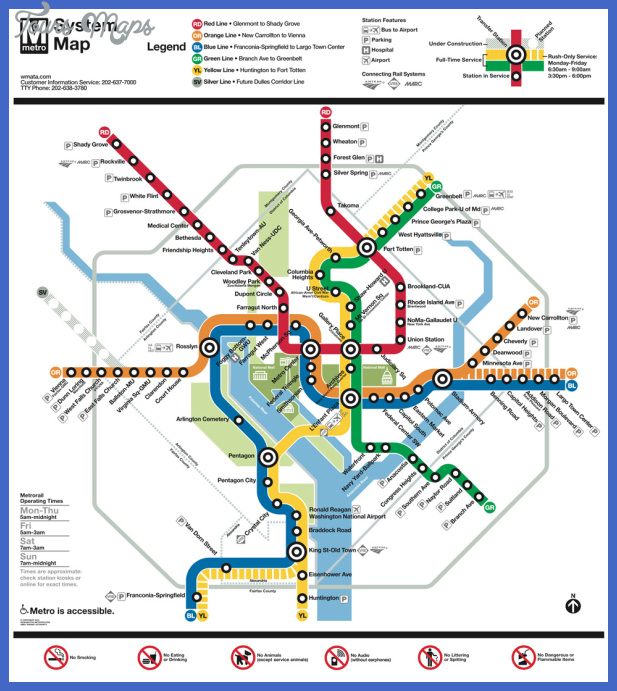 washington subway map  1 Washington Subway Map