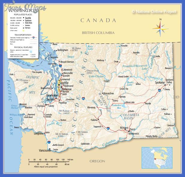 washington map Washington Map