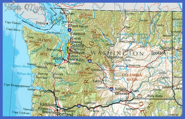 Washington Map Tourist Attractions ToursMapsCom – Seattle Washington Map Tourist