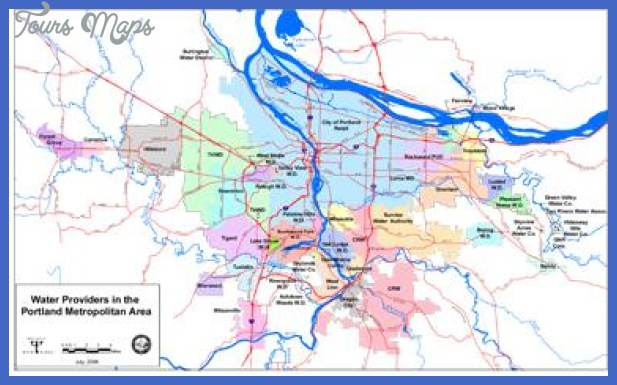Portland Metro Map   ToursMaps.®