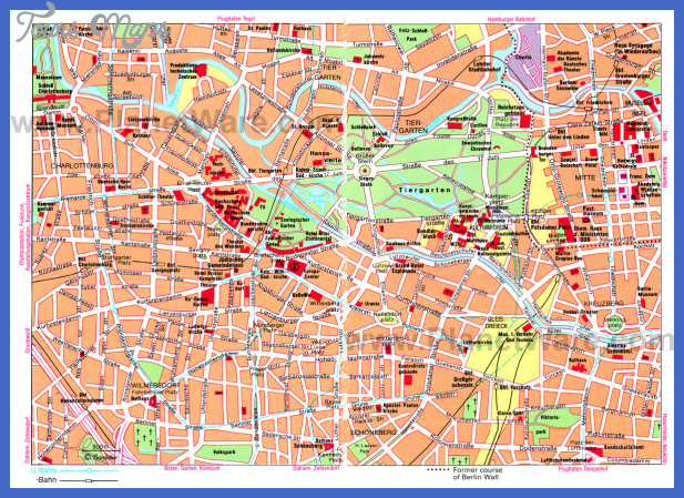 west berlin map Berlin Map Tourist Attractions