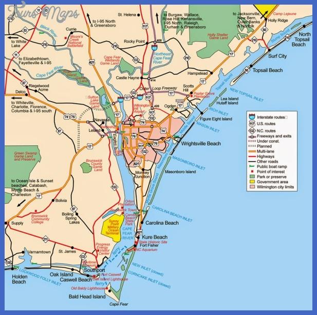 Wilmington Northcarolina Map Jpg