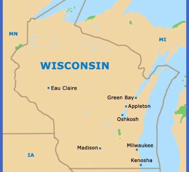 Milwaukee Map Tourist Attractions ToursMapsCom – Wisconsin Tourist Attractions Map
