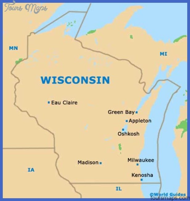 wisconsin wi state map Milwaukee Map Tourist Attractions