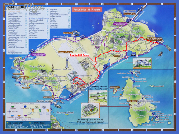 yeongjong island tourist map Korea, North Map Tourist Attractions