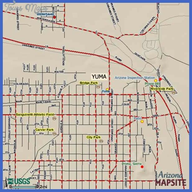 yuma arizona tourist map Stockton Map Tourist Attractions
