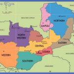 zambia provincial map 150x150 Zambia Map Tourist Attractions