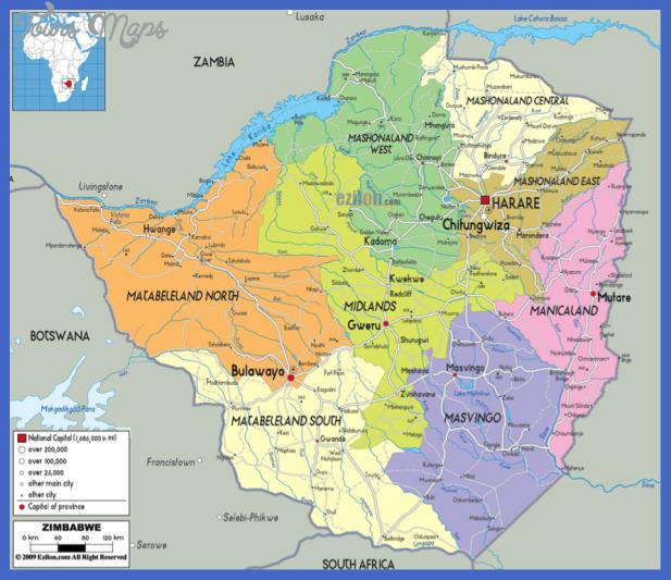 zimbabwe map 2 Zimbabwe Map