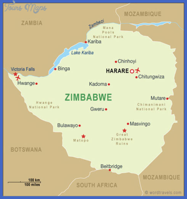 zimbabwe map Zimbabwe Map