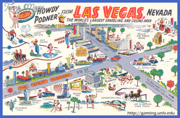 Las Vegas Map Tourist Attractions  Map  Travel  Holiday