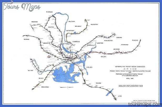 1945 boston subway expansion Cleveland Subway Map