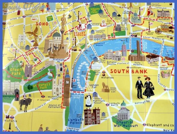 Attractions London Map.London Map Tourist Attractions Toursmaps Com