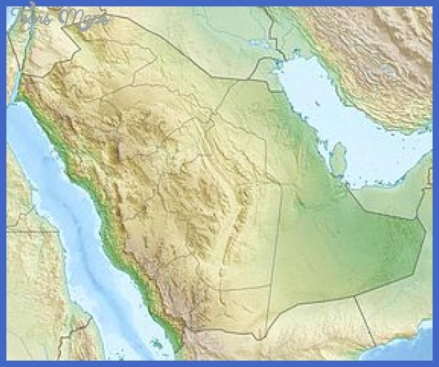 280px saudi arabia relief location map Damman Map Tourist Attractions
