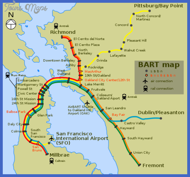 563px bart map svg San Francisco Oakland Subway Map