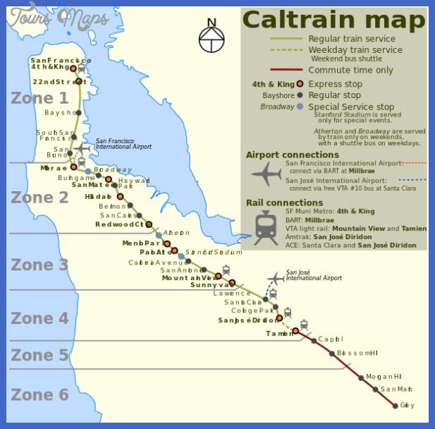 608px caltrain map svg San Jose Metro Map