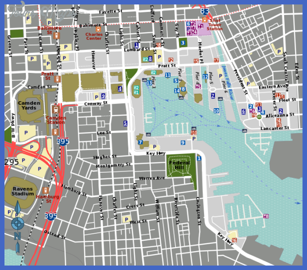681px inner harbor map svg Chesapeake Map Tourist Attractions