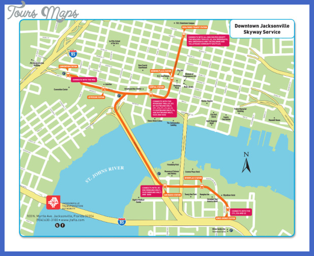 800 jacksonville skywalk Jacksonville Metro Map