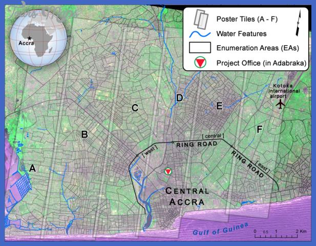 accra wallmap Accra Metro Map