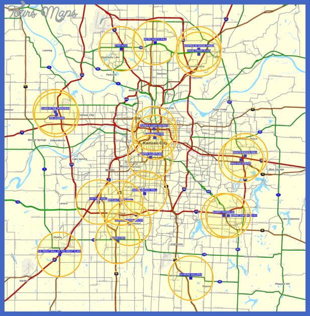 aerial shopping centers Kansas City Metro Map