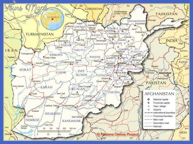 afghanistan map  1 Afghanistan Map