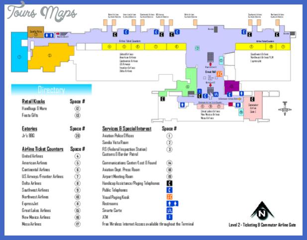 albuquerque international sunport airport map mediumthumb pdf Albuquerque Subway Map