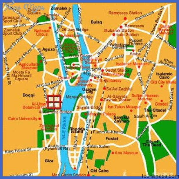 Cairo Map Tourist Attractions ToursMapscom