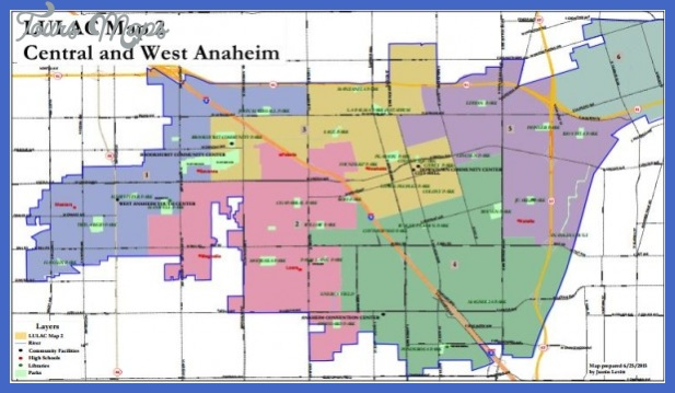 Anaheim Map Tourist Attractions ToursMapscom