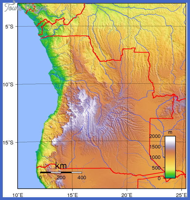 angola topography Angola Map