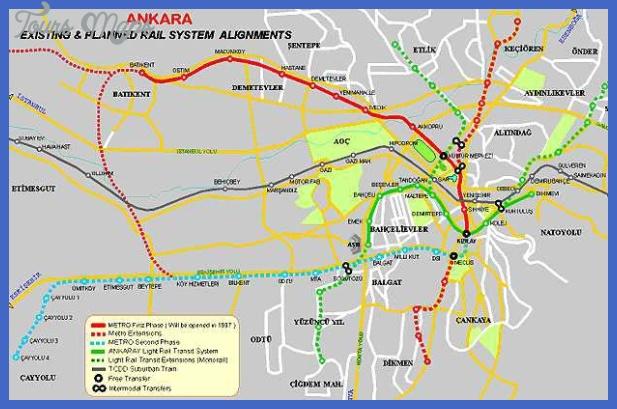 Ankara Subway Map Toursmaps Com