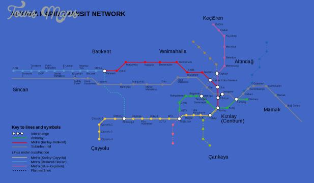 ankara subway map  0 Ankara Subway Map