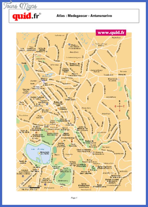 antananarivo city map mediumthumb pdf Madagascar Map Tourist Attractions