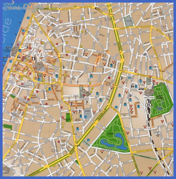 antwerp tourist map Belgium Map Tourist Attractions