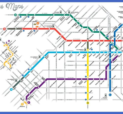 Buenos Aires Subway Map Overlay Archives Map Travel Holiday - Argentina subway map