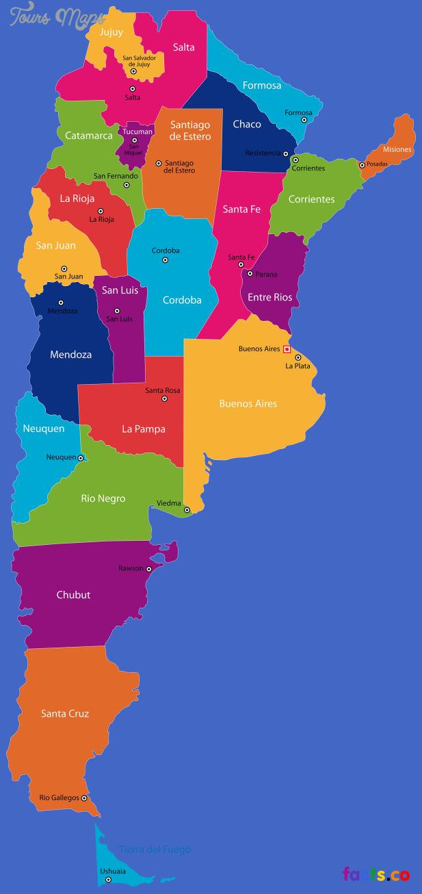 argentinastatesmap Argentina Map