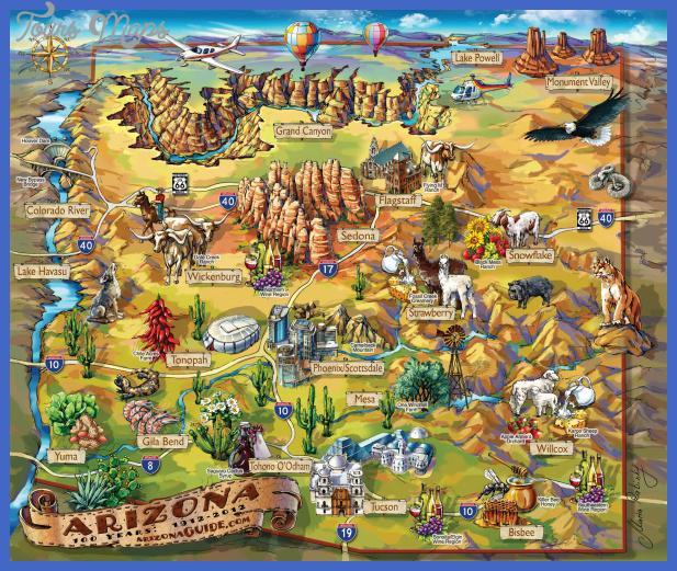 Tucson Map Tourist Attractions ToursMapsCom – Tucson Tourist Attractions Map