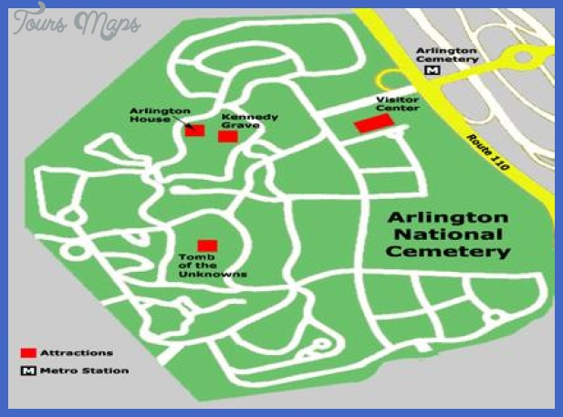 arlington national cemetery map 1 Alington Map