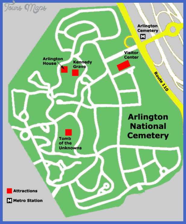 arlington national cemetery map Alington Map
